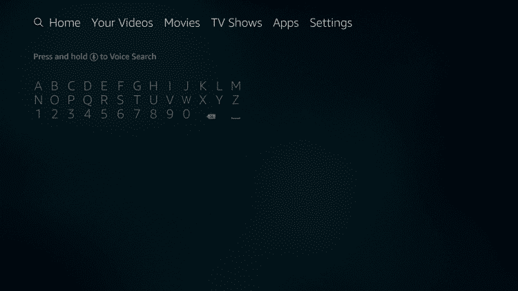 Firestick search menu